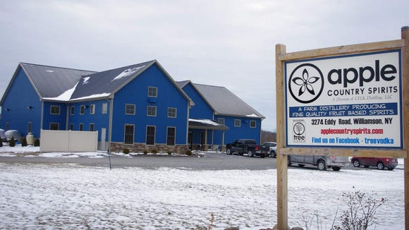 Apple Country Spirits is located on Eddy Road in Williamson. (Photo: M. Rosenberry)