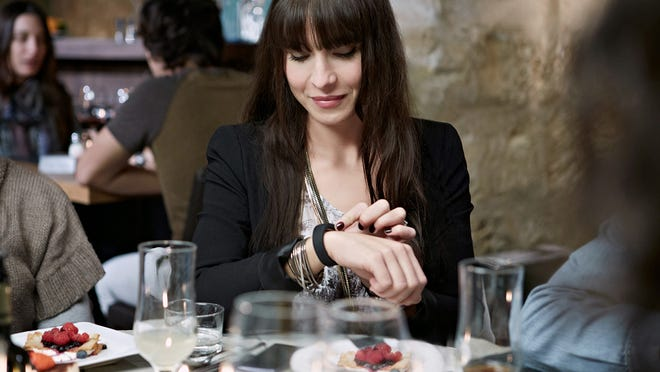 The Sony SmartBand activity monitor can sync with Sony's Xperia smartphone to notify of incoming messages.