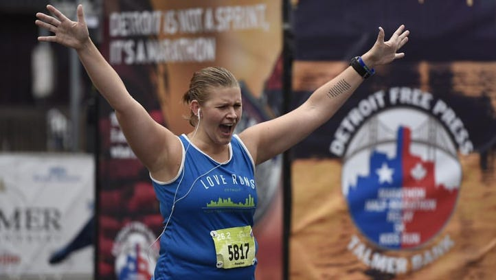 Detroit marathon: Running for a cause is gift that gives back