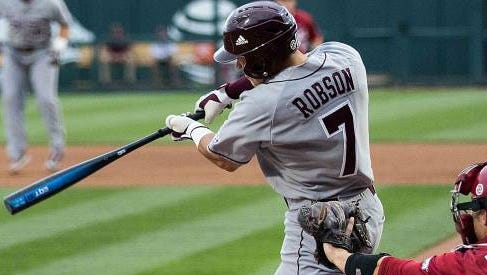 Mississippi State junior Jacob Robson has missed the last three series with a hand injury.