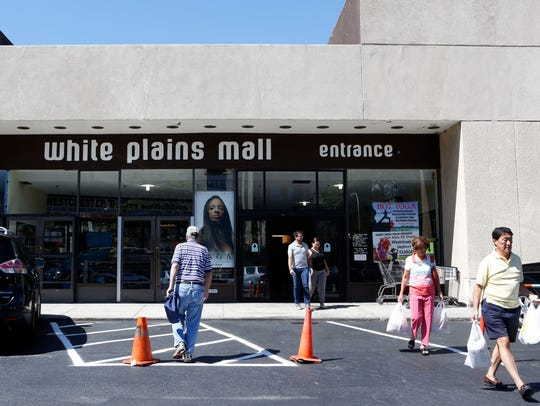 Shoppers at the White Plains Mall