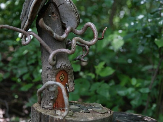 A fairy house along the trail in Tinker Nature Park