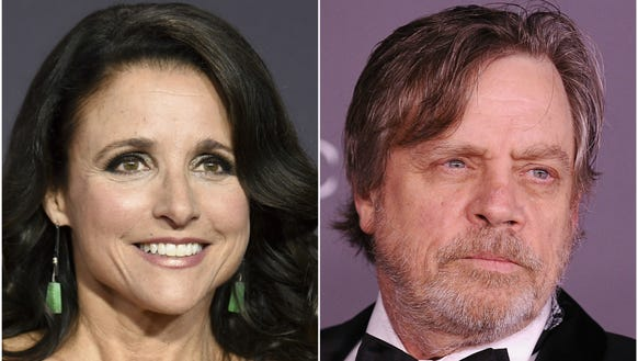 Actors Julia Louis-Dreyfus and Mark Hamill took to