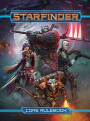 """The """"Starfinder"""" role-playing game puts you in the role of a bold science-fantasy explorer, investigating the mysteries of a weird and magical universe as part of a starship crew. Will you delve for lost artifacts in the ruins of alien temples? Strap on rune-enhanced armor and a laser rifle to battle undead empires in fleets of bone ships, or defend colonists from a swarm of ravenous monsters?"""