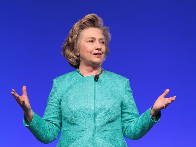 Former U.S. Secretary and First Lady Hillary Rodham Clinton spoke at the United Methodist Women's convention Saturday morning. She urged the crowd for the continuing fight against human trafficking. April 26, 2014