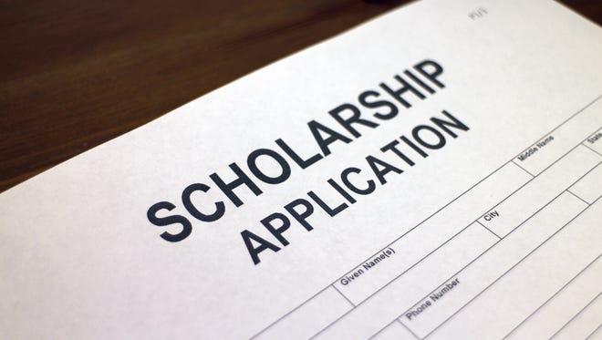 Scholarship application form.