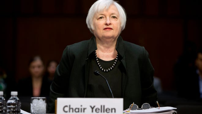 Federal Reserve Chair Janet Yellen on Capitol Hill.