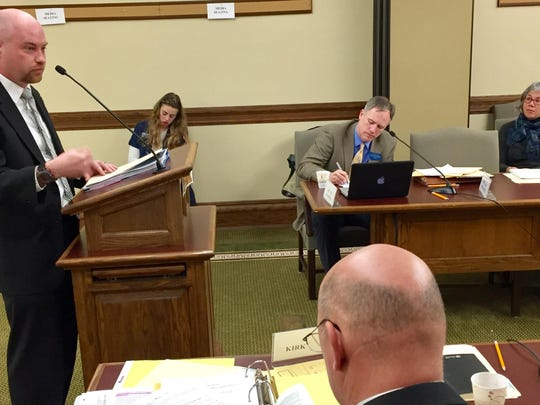 Joe Cik, Great Falls assistant city attorney, speaks Tuesday to the House Judiciary Committee.