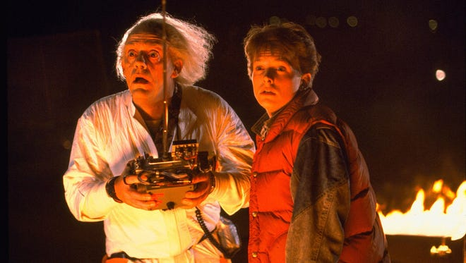 """Christopher Lloyd, with Michael J. Fox, starred as the crazy Dr. Emmett Brown in the 1985 classic """"Back to the Future."""""""