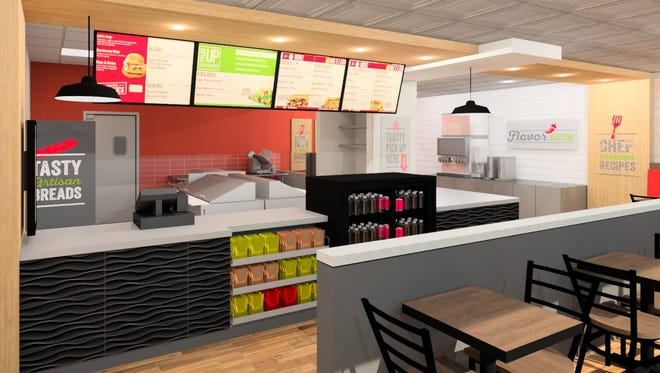 A Quiznos sandwich shop will open this week at N89 W16859 Appleton Ave. in Menomonee Falls.
