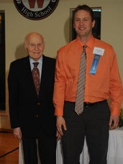 Cooper Elementary School third-grade teacher Eric Waara - seen here with Herb Kohl - was honored as a 2016 Teacher Fellow. Fellowship recipients are educators chosen for their ability to inspire a love of learning in their students, their ability to motivate others and their leadership and service within and outside the classroom.
