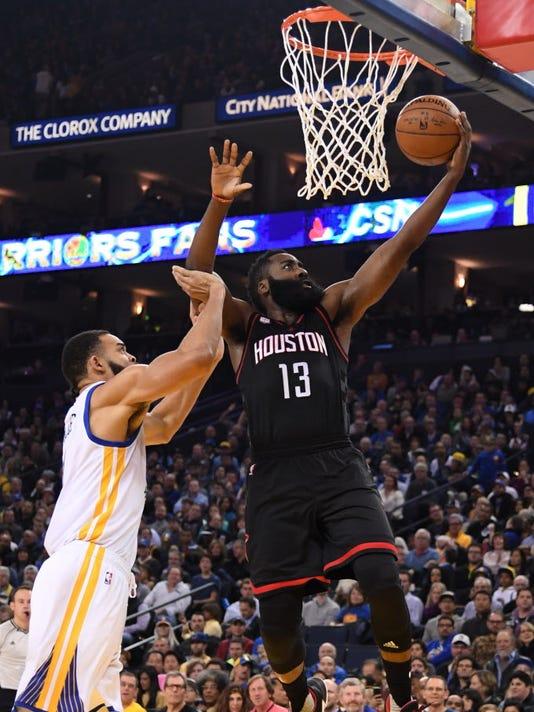USP NBA: HOUSTON ROCKETS AT GOLDEN STATE WARRIORS S BKN USA CA