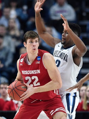 Ethan Happ will help lead Wisconsin against Baylor in the semifinals of the Hall of Fame Classic on Nov. 20 in Kansas City, Mo.