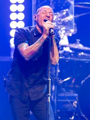 Chester Bennington of Linkin Park performs during the