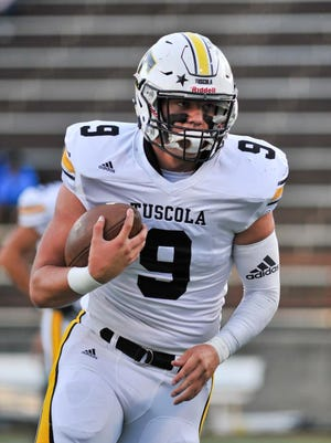 Tuscola's Brayden Monday, prior to Friday's game against Asheville.  Asheville defeted Tuscola 30-16. MIKE RICE/Citizen-Times