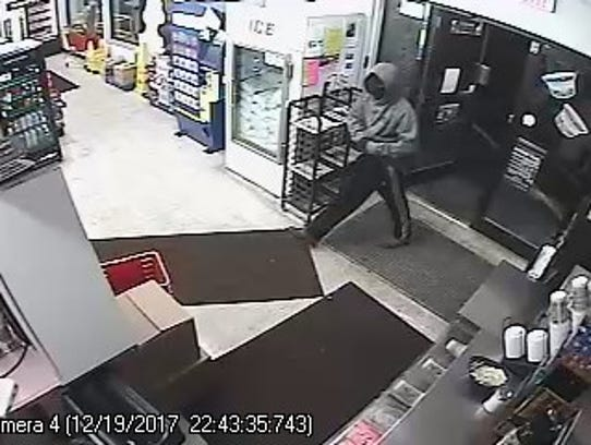 The suspect in a robbery at the Byrne Dairy on North
