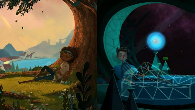 """""""Broken Age"""" chronicles the adventures of brave villager Vella and bored-out-of-his-mind, wannabe spacefarer Shay, whose lives aren't what they seem."""