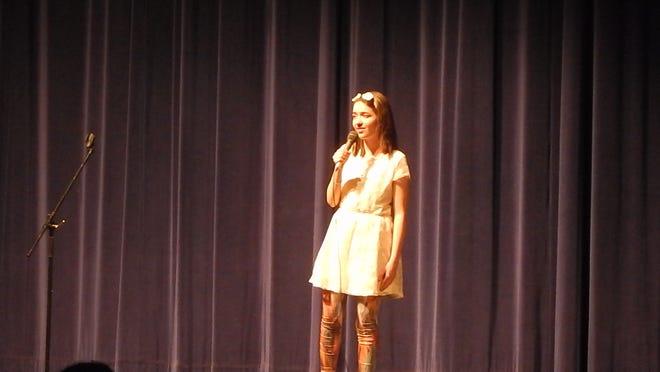 "Rebecca Phifer, intermediate performing arts champion, sings ""Count on Me"""