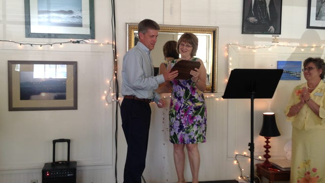 Tom Derrickson was named 2015 Business Person of the Year by the Chincoteague Chamber of Commerce at the chamber's awards luncheon held on Wednesday, May 13, 2015 at the Chincoteague Cultural Alliance headquarters.