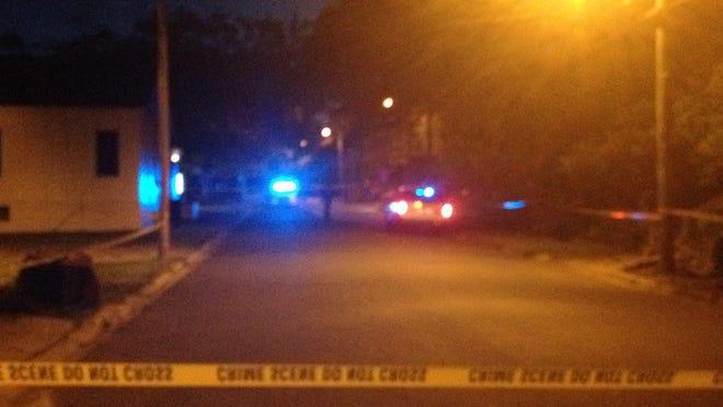 Crime scene at Preston and Dewey street on Saturday.