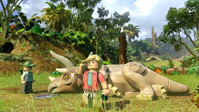 LEGO Jurassic World lets you relive scenes from Jurassic Park and other movies.