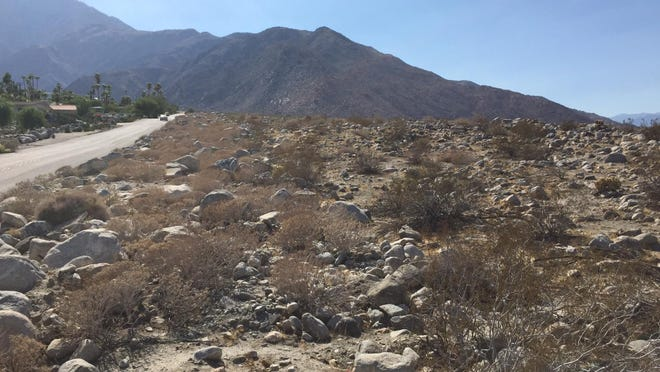 The site in north Palm Springs where the Crescendo housing development is proposed. The project has been given another one-year extension by the Palm Springs Planning Commission.