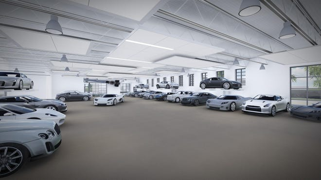 This rendering shows what the interior will look like inside The Automotive Gallery and Event Center, in the former Denil Cadillac building on South Adams Street in Green Bay.