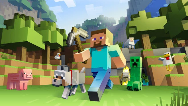 Minecraft creates a virtual world in which kids build what they need to survive.