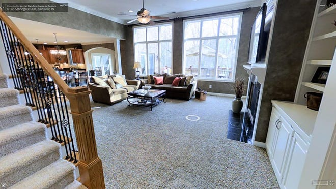 The Matterport software allows home buyers to virtually move through a home.