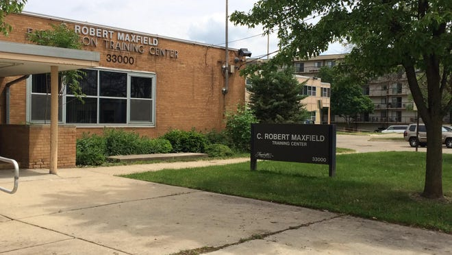 The Maxfield Education Center in downtown Farmington is on the market.