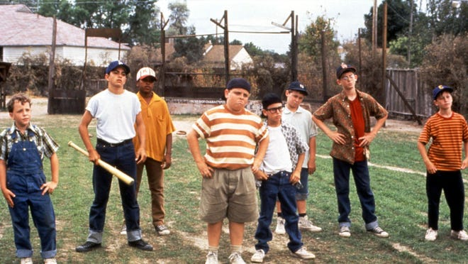 """The cast of """"The Sandlot' reunited after 25 years on the Today Show Thursday morning, April 12, 2018. Credit: AP Photo/20th Century Fox"""