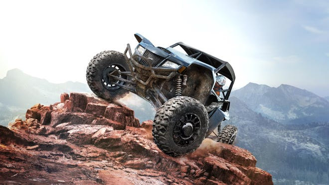 """In the  """"Overpass"""" video game, the player takes control of ATV's and quads, driving across challenging tracks and hazardous terrain of rocks and logs."""