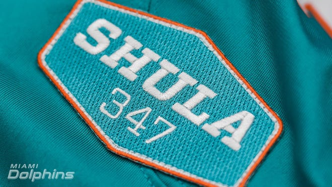 The Shula 347 patch that the Dolphins will wear in 2020.