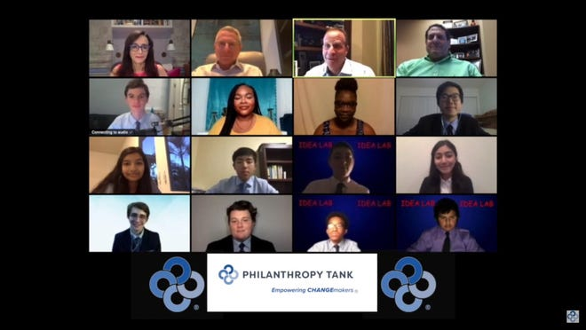 Philanthropy Tank finalists made pitches for their charity projects recently during a Zoom call with a group of philanthropist-investors. The seven high school student-led agencies together netted $89,000 in funding for their concepts.