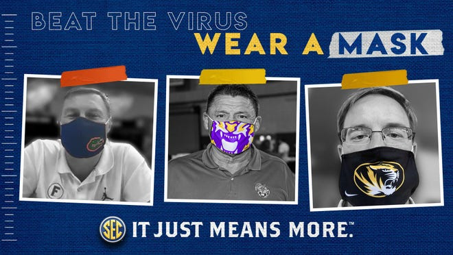 "The SEC released a ""Wear Your Mask"" COVID-19 prevention social media campaign on Monday."