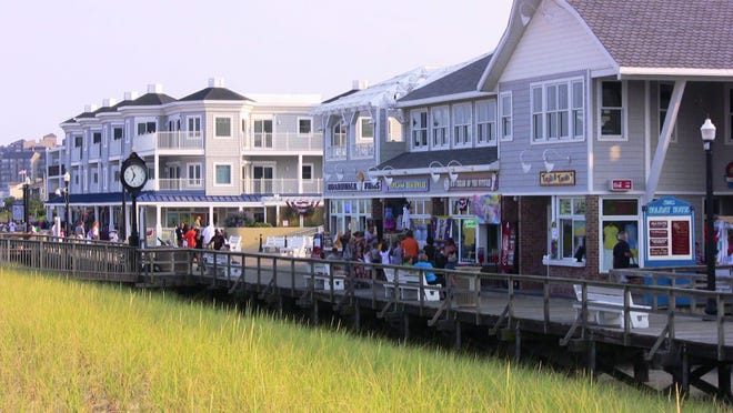 The boardwalk at Bethany Beach, Delaware.