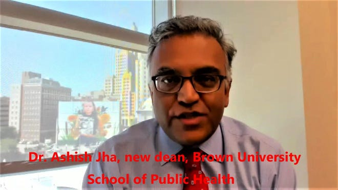 Dr. Ashish Jha, the new dean of Brown University's School of Public Health.
