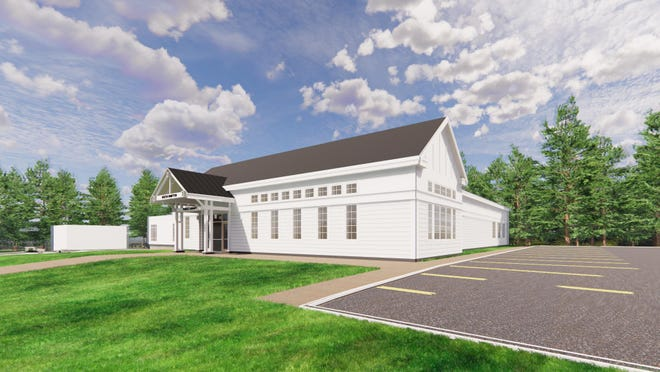A rendering of the proposed new North Hampton Library to be constructed on the Homestead lot.