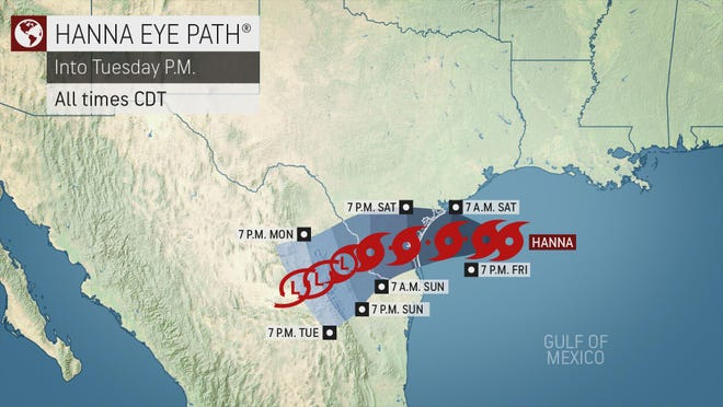 July 24, 2020  --  AccuWeather expert meteorologists provide updates to media working on stories related to Tropical Storm Hanna closing in on the Texas coast.