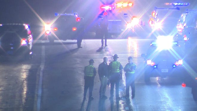 A motorcyclist was killed late Tuesday night in a collision on Interstate 495 in Raynham.