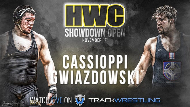 Tony Cassioppi will take on Nick Gwiazdowski in the Hawkeye Wrestling Club's Showdown Open on Nov. 1.