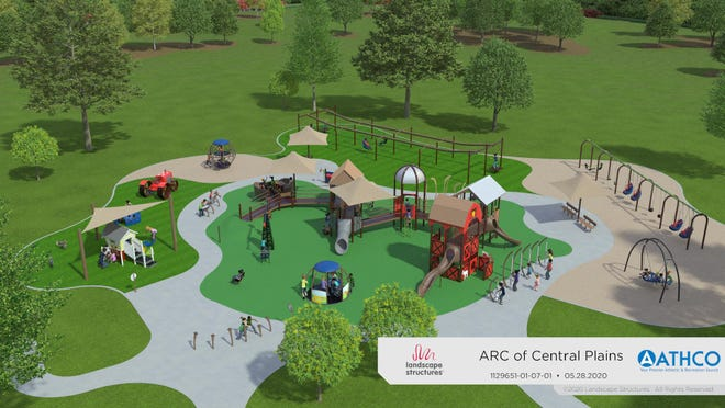 Artist's conceptual drawing of the proposed nearly $2 million Hays Accessible Recreation Complex, ARC Park.