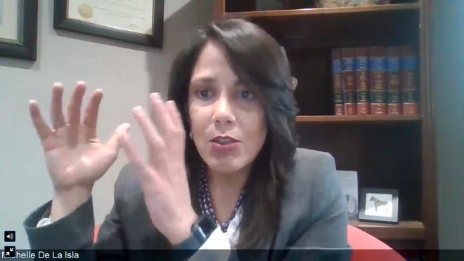 Topeka Mayor Michelle De La Isla participated in a virtual roundtable with mayors from across the U.S. to discuss how to eliminate poverty in their communities.