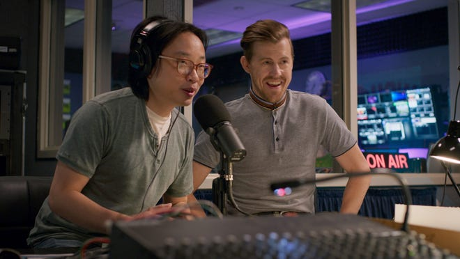 Will (Jimmy O. Yang) and Chris (Alex Moffat) try to promote their acts on radio.