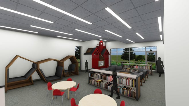 A rendering of the children's area at Herrick District Library's North Branch location.
