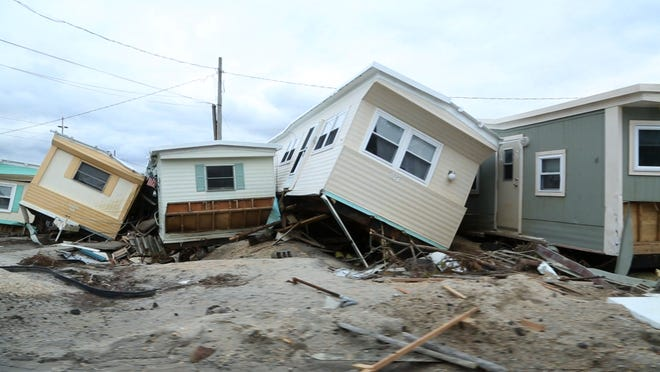 A home damaged by superstorm Sandy in the Holgate section of Long Beach Township.