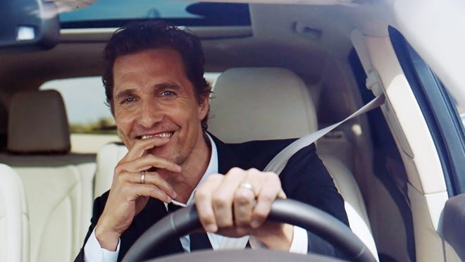 Actor Matthew McConaughey's series of Lincoln MKC ads have drawn attention — from comedians and TV writers.