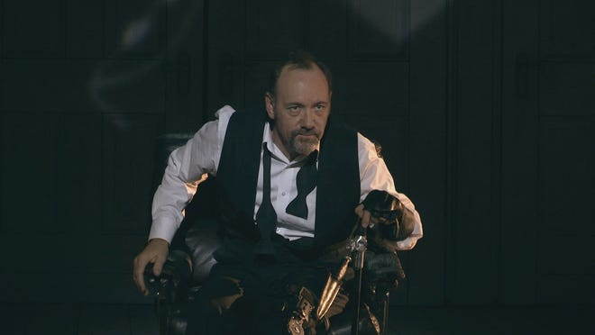 Kevin Spacey as Richard, Duke of Gloucester in the opening scene of Richard III during a performance in Epidaurus, Greece.