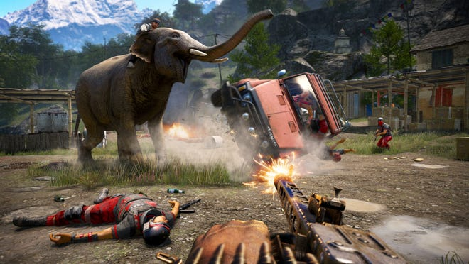 """A scene from the video game, """"Far Cry 4."""""""