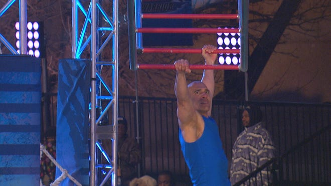 """Poughkeepsie resident Carlos Canadilla, 50, competes on NBC's """"American Ninja Warrior"""" for an episode that will air Monday night, which taped in St. Louis in April."""